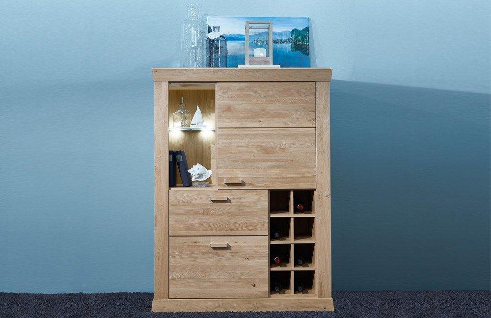 schr der wohnm bel highboard sylt 4319l asteiche teilmassiv m bel letz ihr online shop. Black Bedroom Furniture Sets. Home Design Ideas