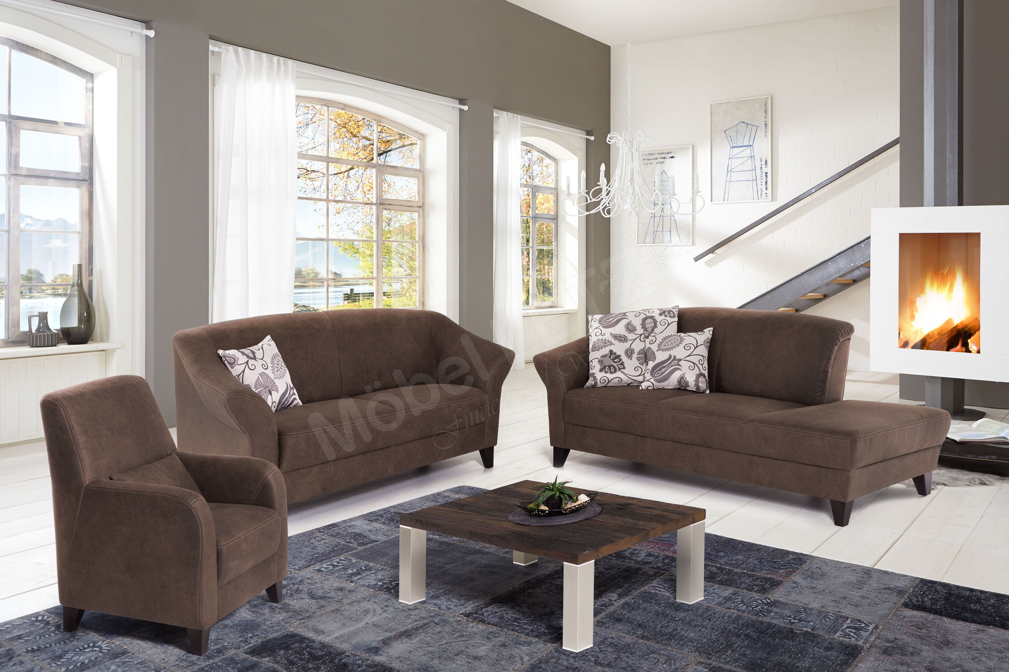 ponsel kitzb hl polstergruppe braun m bel letz ihr online shop. Black Bedroom Furniture Sets. Home Design Ideas