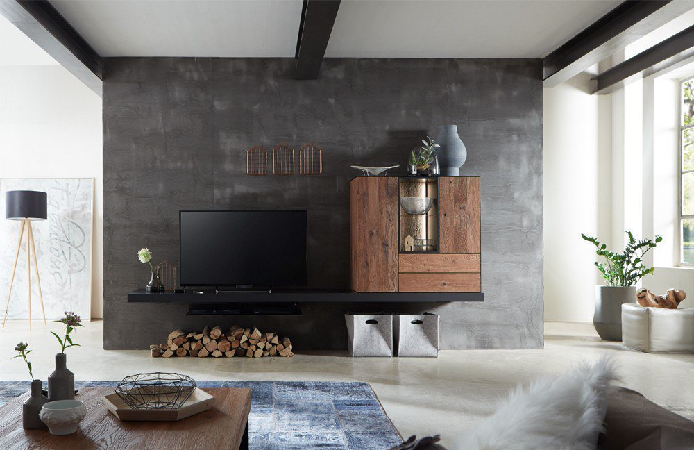 w stmann wohnwand nw 550 r uchereiche stahl m bel letz ihr online shop. Black Bedroom Furniture Sets. Home Design Ideas