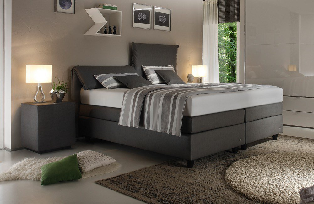 boxspringbett verola von ruf betten in grau m bel letz ihr online shop. Black Bedroom Furniture Sets. Home Design Ideas