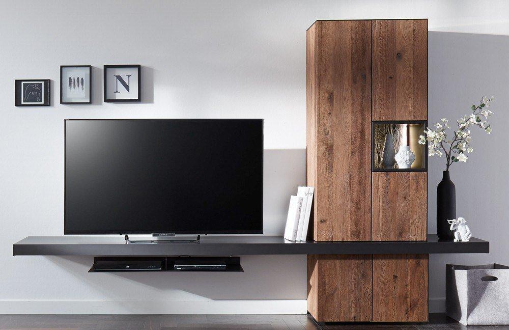 w stmann wohnwand nw 550 stahl r uchereiche m bel letz ihr online shop. Black Bedroom Furniture Sets. Home Design Ideas