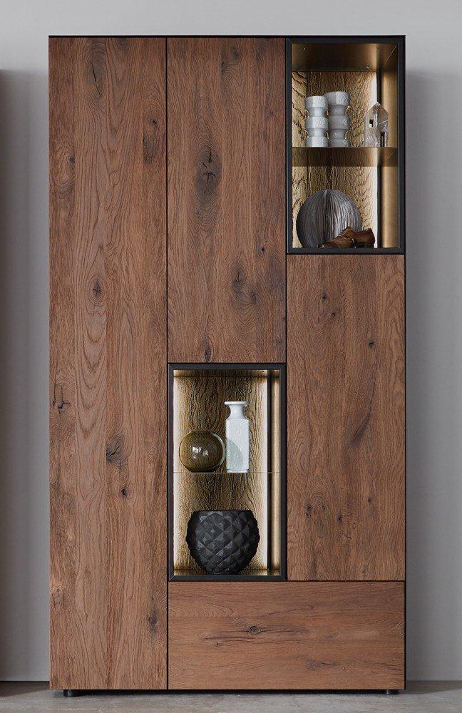 w stmann highboard nw 550 r uchereiche stahl m bel letz ihr online shop. Black Bedroom Furniture Sets. Home Design Ideas