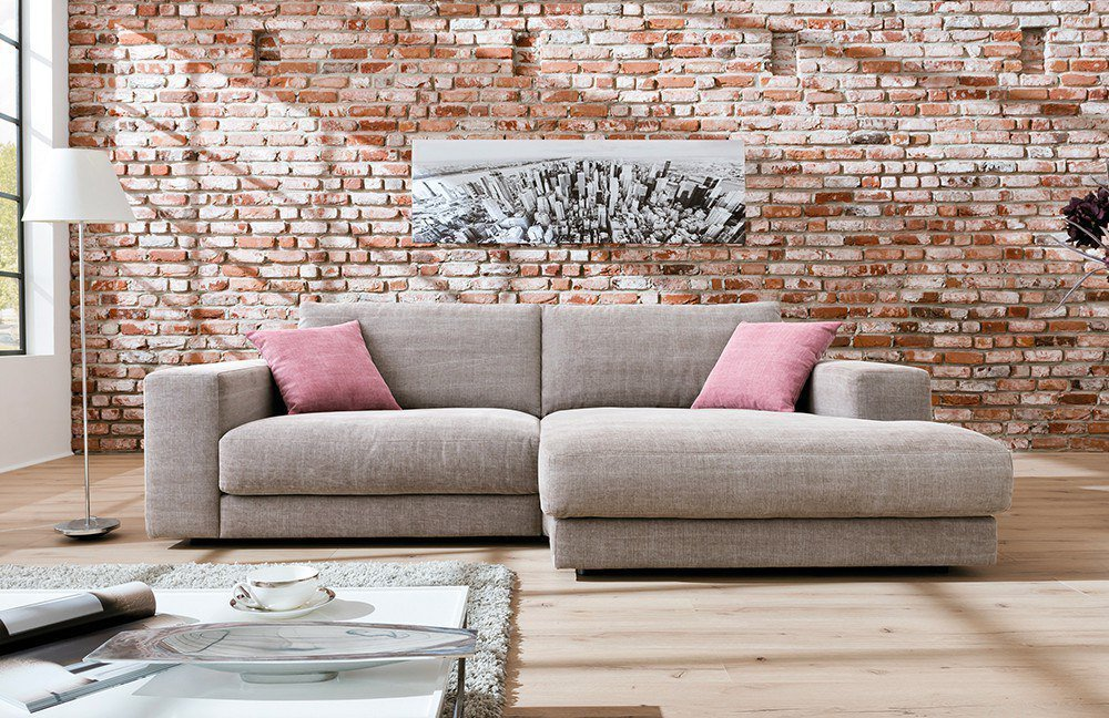 Candy kingston ecksofa hellbraun m bel letz ihr online for Ecksofa candy