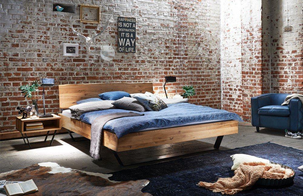Holzbett modern  Tjørnbo Modern Sleep Bett mit Kufen | Möbel Letz - Ihr Online-Shop
