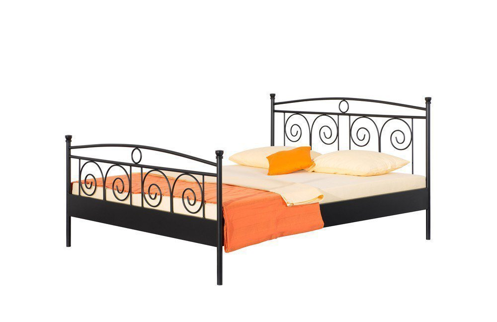 metallbett schwarz. Black Bedroom Furniture Sets. Home Design Ideas