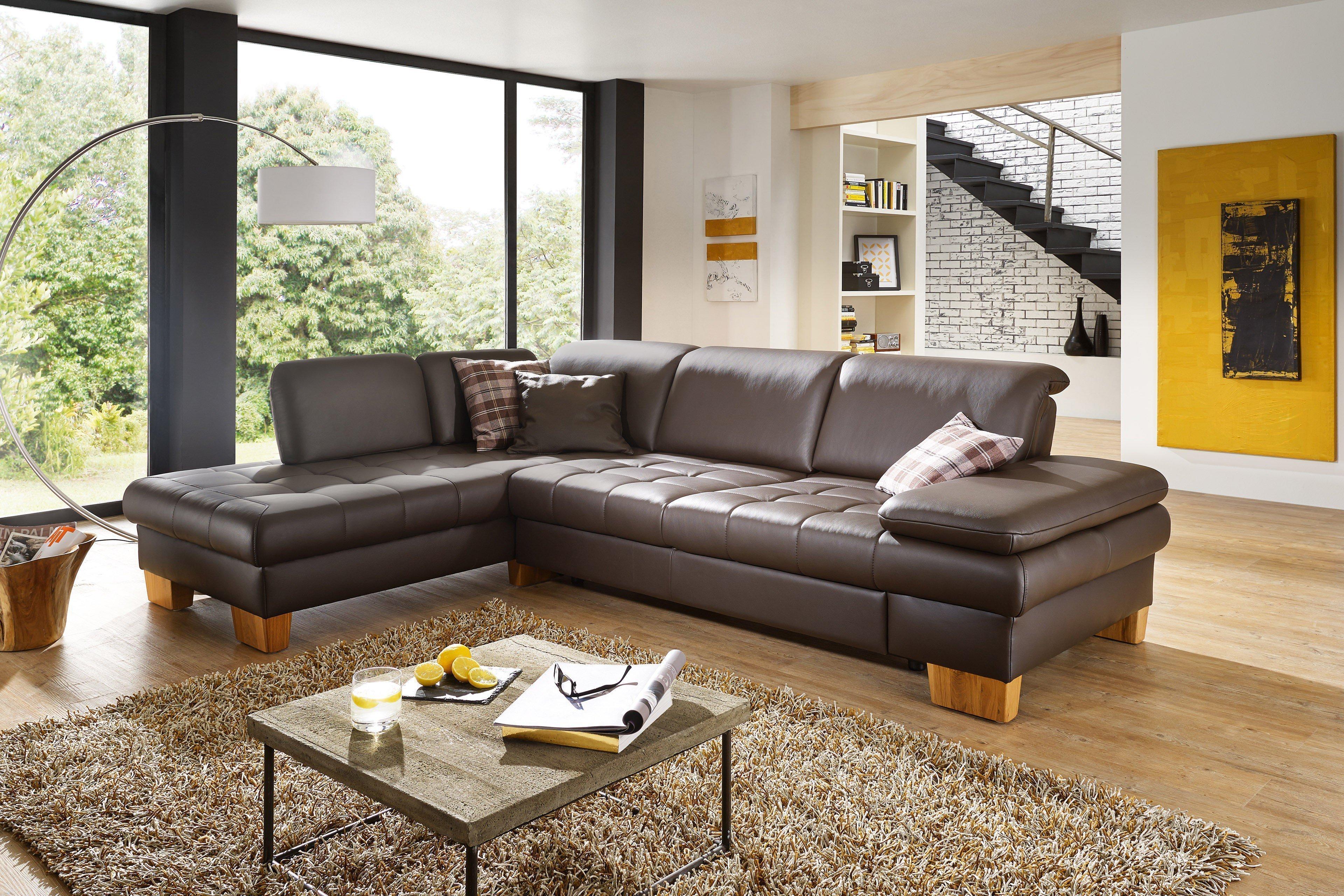 Dietsch Family Relax 3 Ledergarnitur mocca | Möbel Letz - Ihr ...