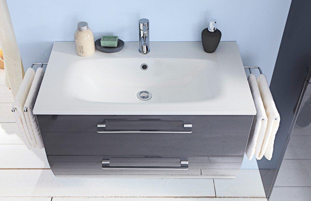 3130 von Marlin - Waschtisch-Set in Anthrazit/ Weiß