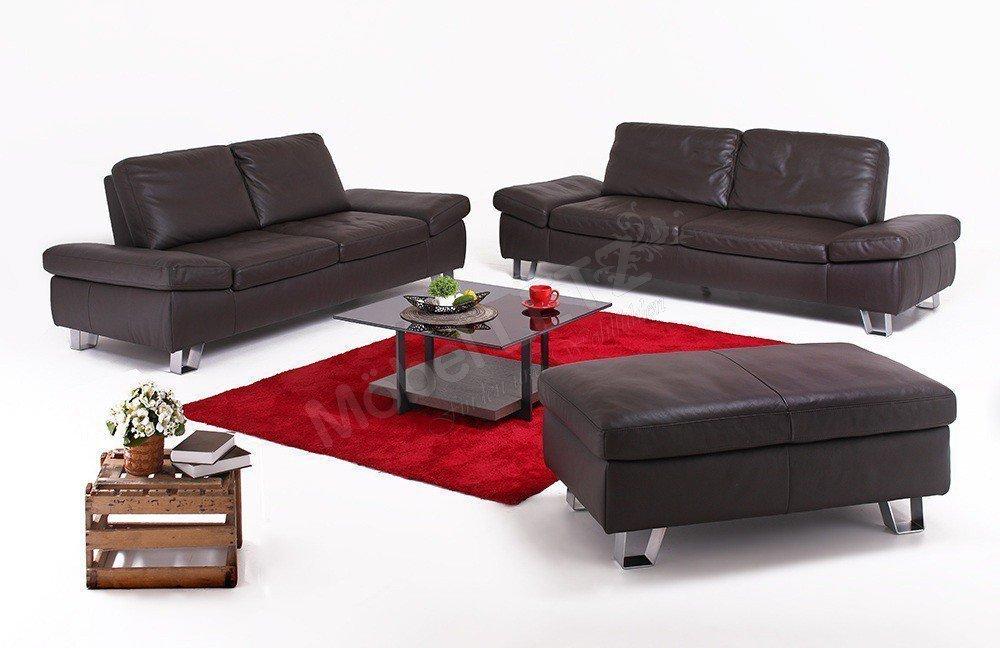 k w dive 7474 ledersofa schoko m bel letz ihr online shop. Black Bedroom Furniture Sets. Home Design Ideas