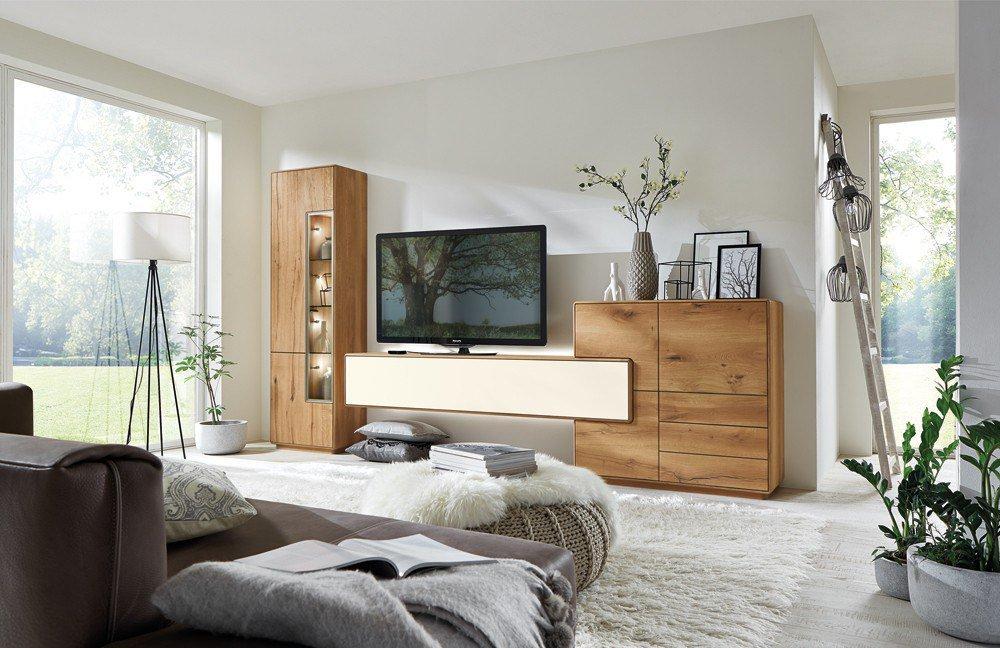 wohnwand sineo 0006 wild bohleneiche massiv von w stmann markenm bel m bel letz ihr online. Black Bedroom Furniture Sets. Home Design Ideas