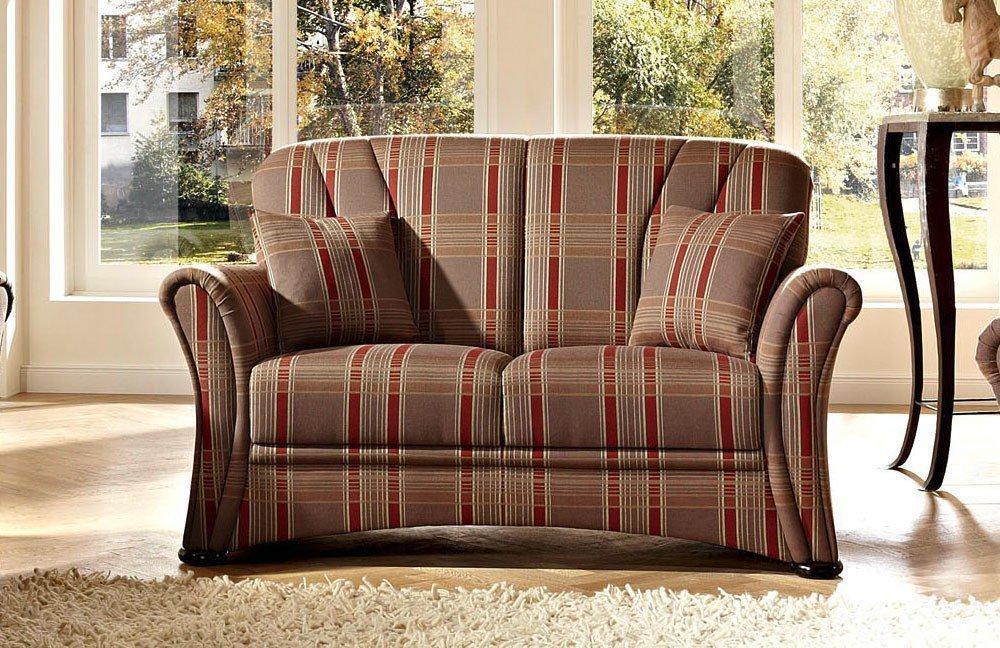 schr no berlin sofa gespann braun rot kariert m bel letz. Black Bedroom Furniture Sets. Home Design Ideas