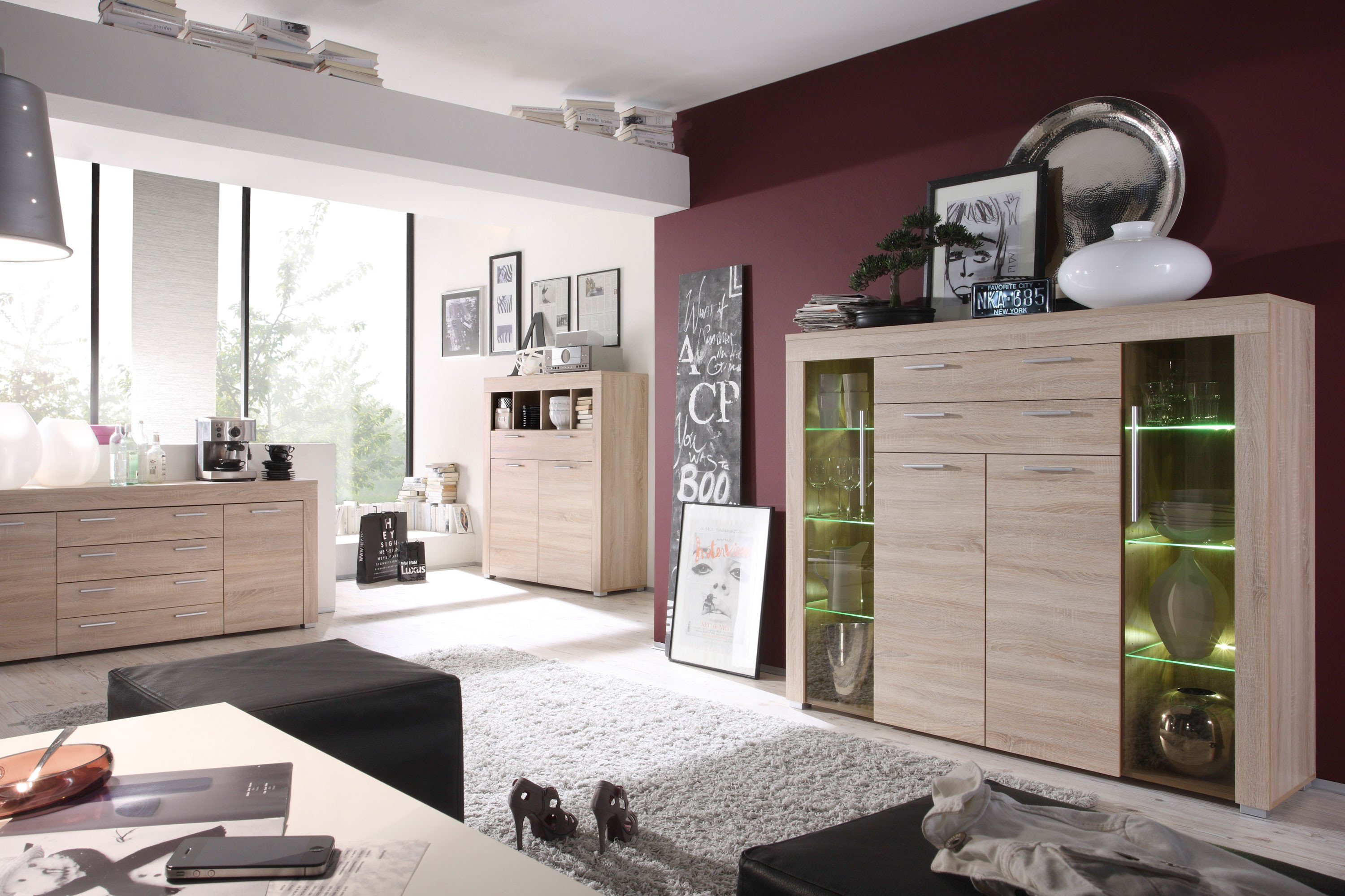 trendteam higboard boom crash in eiche s gerau m bel letz ihr online shop. Black Bedroom Furniture Sets. Home Design Ideas