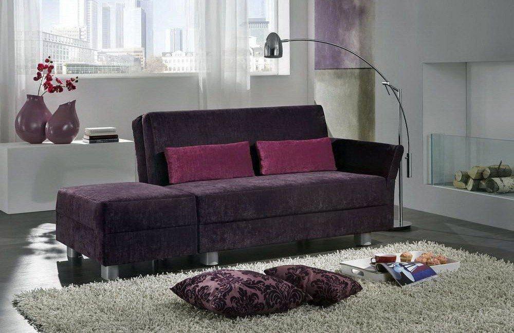 schlafsofa solino lila von nehln wohnideen m bel letz ihr online shop. Black Bedroom Furniture Sets. Home Design Ideas