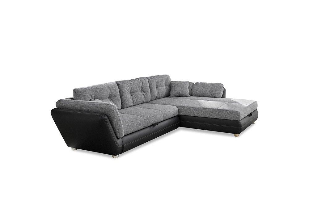 Eckcouch grau schwarz  Jockenhöfer Java Eckcouch grau-schwarz | Möbel Letz - Ihr Online-Shop