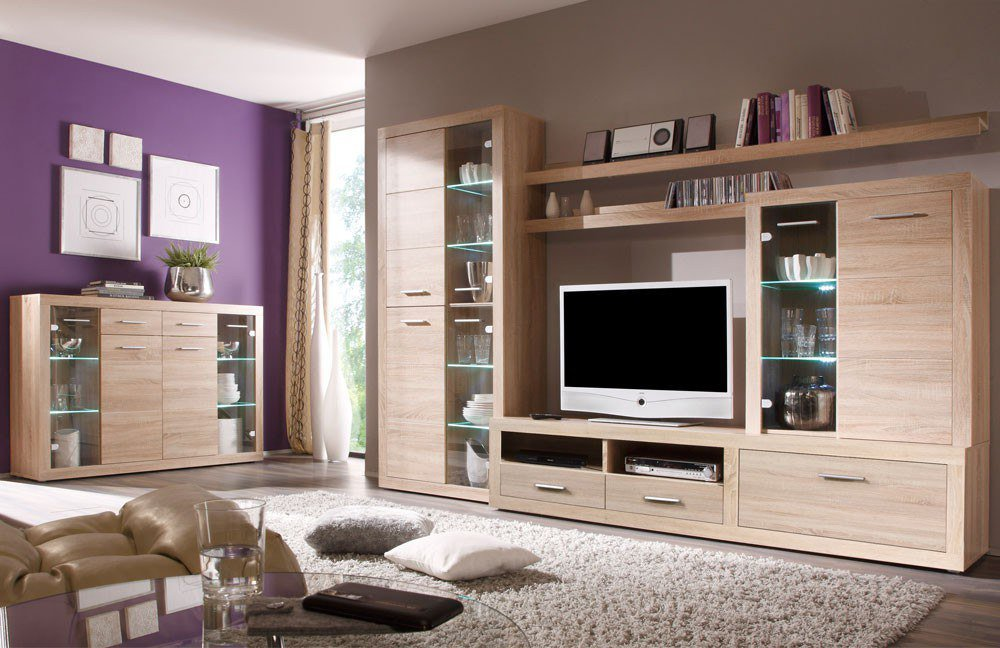 wohnwand can can 5 lisetta 89 532 66 von hbz meble m bel letz ihr online shop. Black Bedroom Furniture Sets. Home Design Ideas