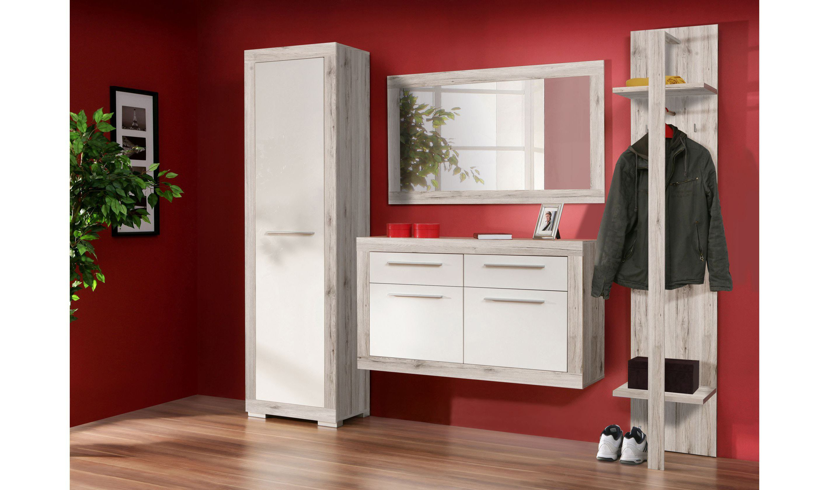 garderobe cremona plus mick in sandeiche von forte m bel letz ihr online shop. Black Bedroom Furniture Sets. Home Design Ideas