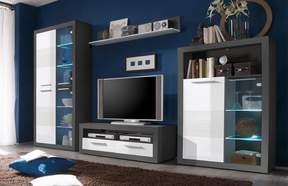 wohnwand kolibri katherina 89 925 d5 von hbz meble. Black Bedroom Furniture Sets. Home Design Ideas
