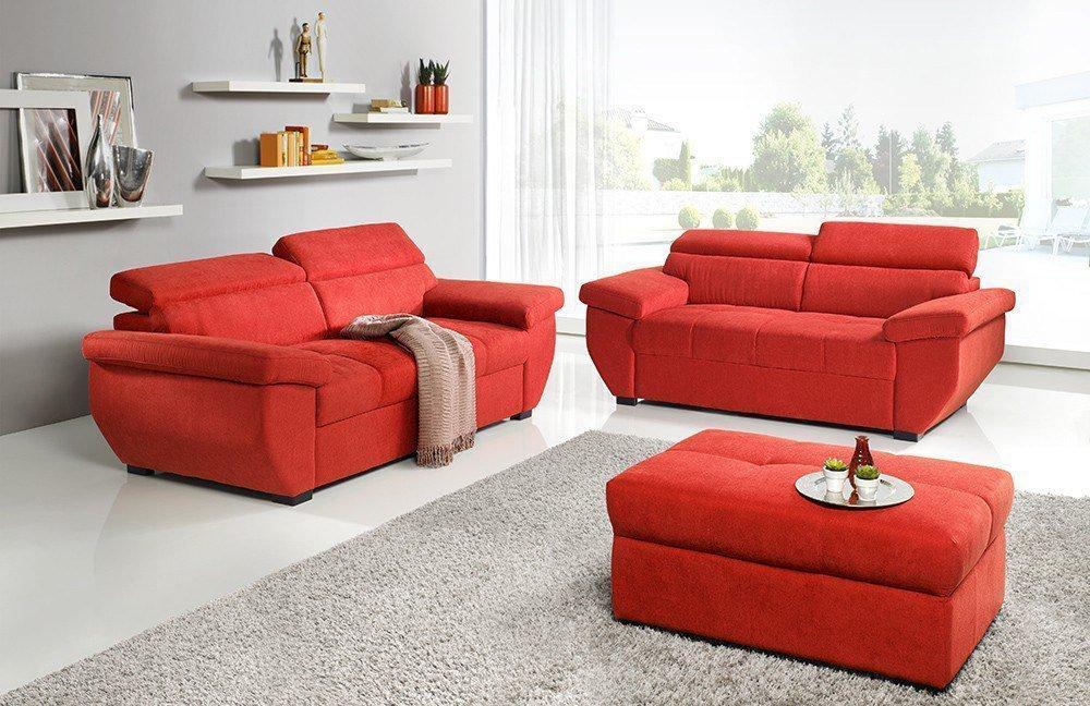 cotta speedway polstergruppe rot m bel letz ihr online shop. Black Bedroom Furniture Sets. Home Design Ideas