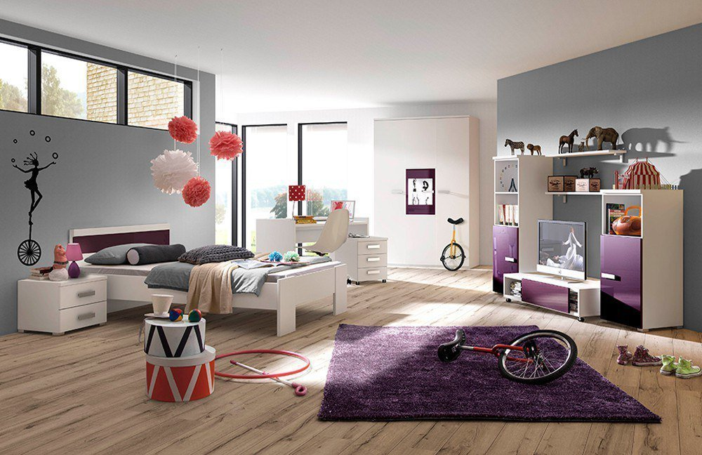r hr bush jugendzimmer wei lila m bel letz ihr online shop. Black Bedroom Furniture Sets. Home Design Ideas