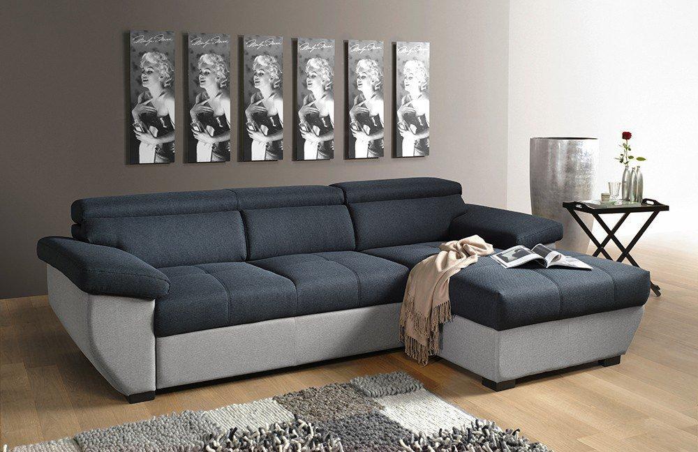 cotta speedway ecksofa schwarz grau m bel letz ihr online shop. Black Bedroom Furniture Sets. Home Design Ideas