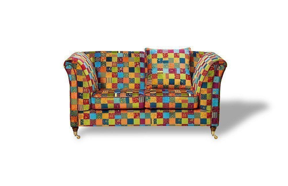 Schröno Vintage Einzelsofa Muster bunt | Möbel Letz - Ihr Online-Shop