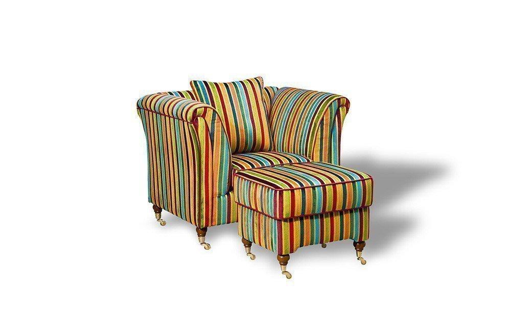 Schröno Vintage Designer Sessel Gestreift Möbel Letz Ihr Online Shop