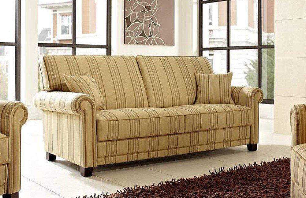 Schröno Toskana Sofagruppe beige gestreift | Möbel Letz - Ihr ...