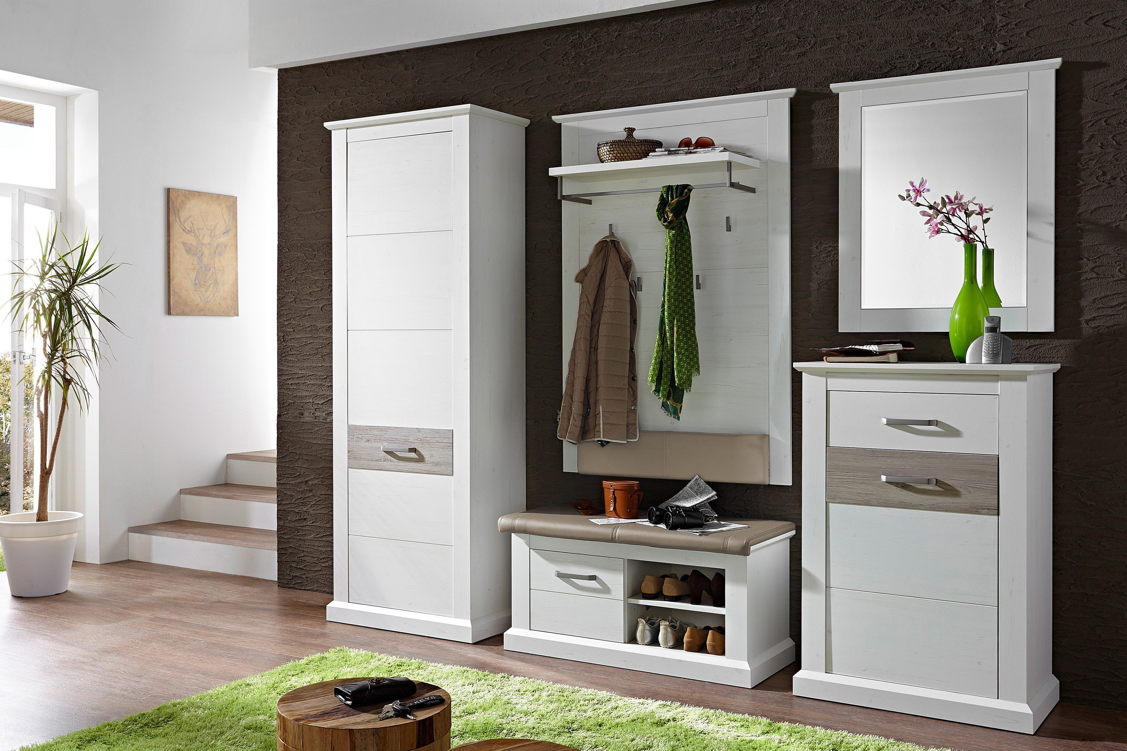 garderobe wei taupe innostyle modena m bel letz ihr online shop. Black Bedroom Furniture Sets. Home Design Ideas