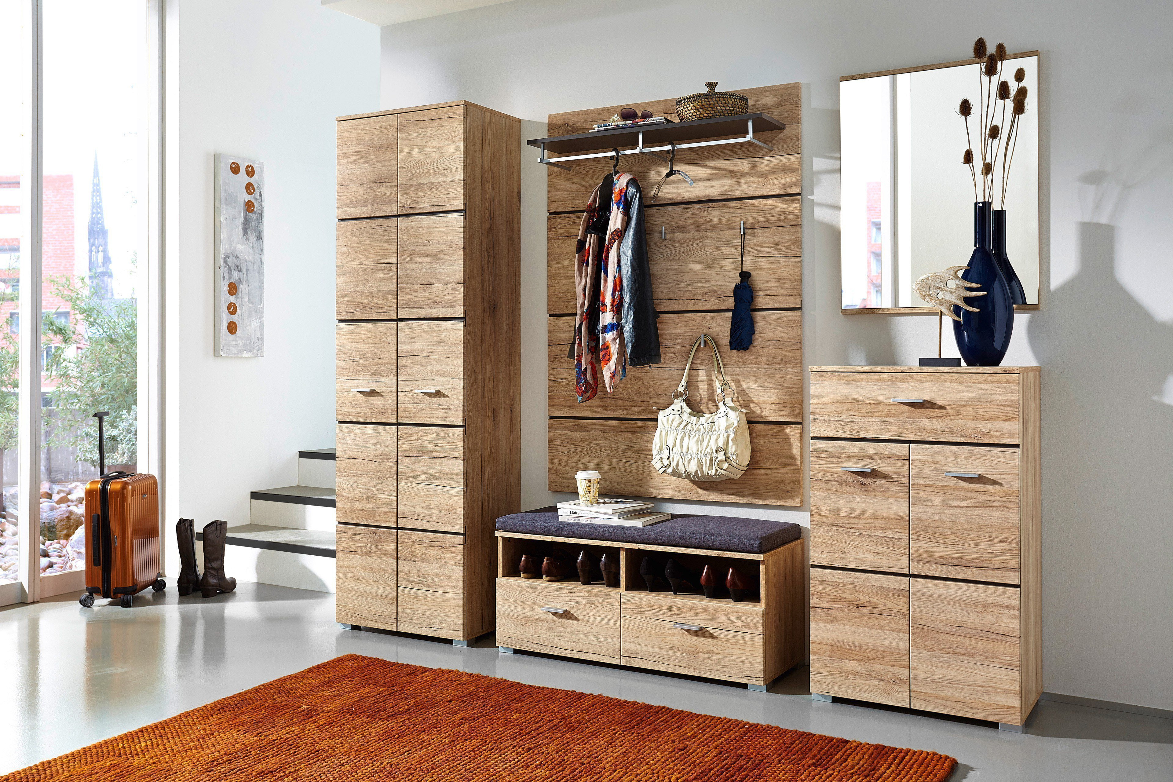 innostyle garderobe fresh sanremo eiche m bel letz ihr online shop. Black Bedroom Furniture Sets. Home Design Ideas