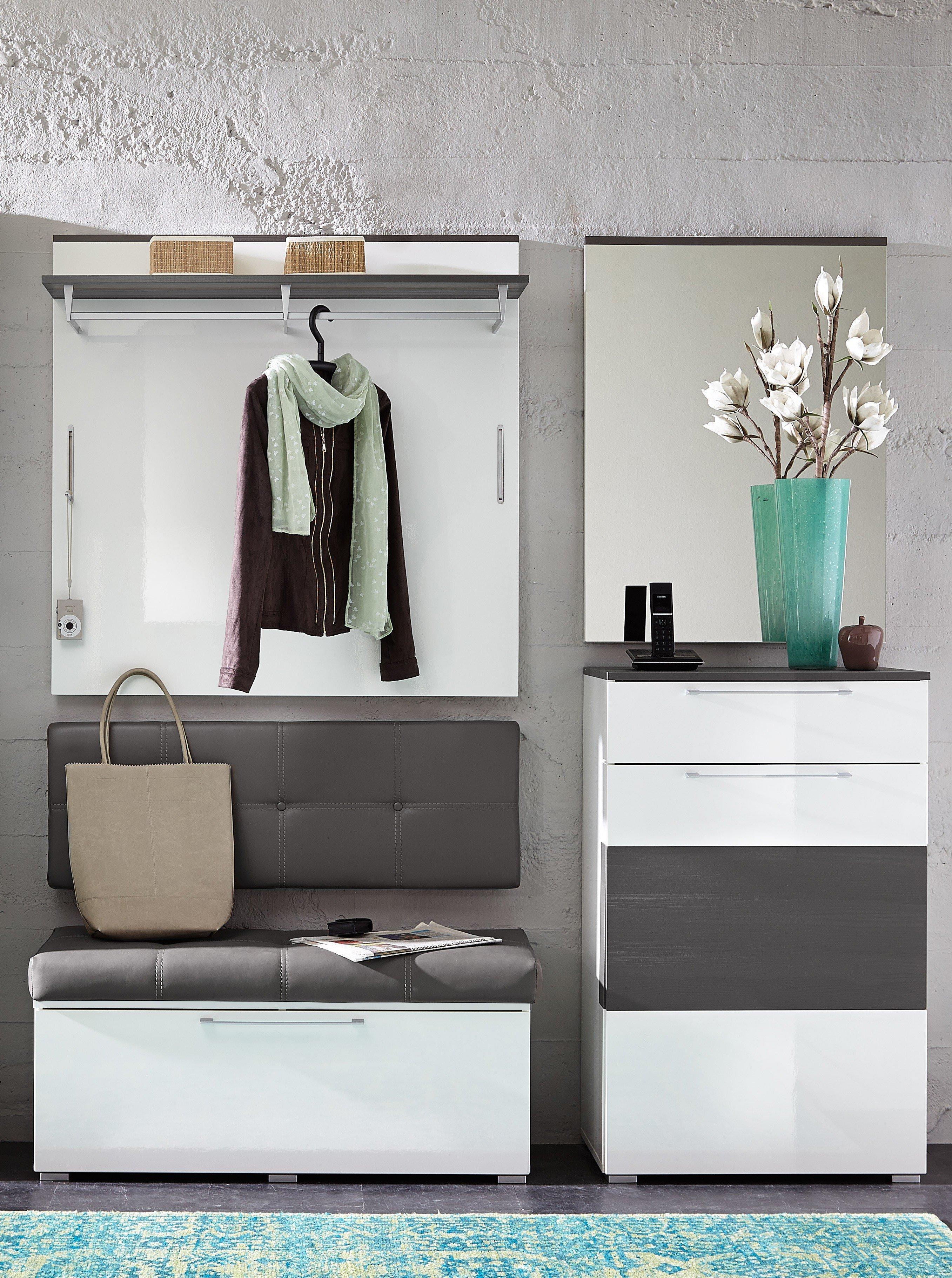 innostyle garderobe reno wei grau 4 teilig m bel letz ihr online shop. Black Bedroom Furniture Sets. Home Design Ideas