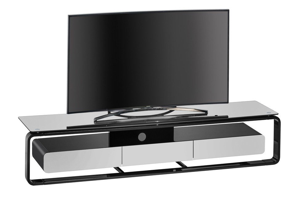 maja m bel tv rack schwarz grau m bel letz ihr online. Black Bedroom Furniture Sets. Home Design Ideas