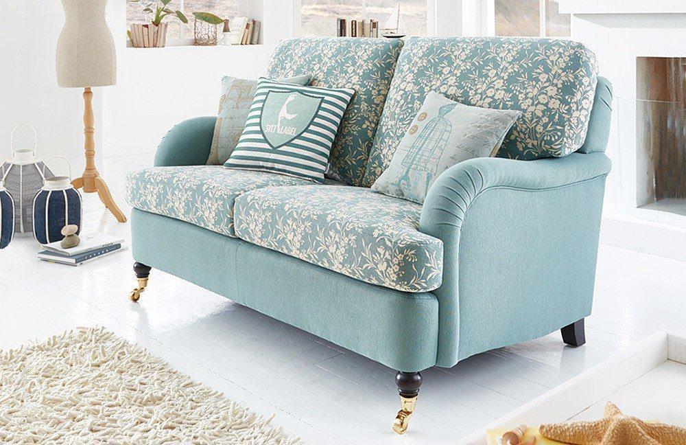 schr no keitum einzelsofa gr n mit blumenmuster m bel. Black Bedroom Furniture Sets. Home Design Ideas