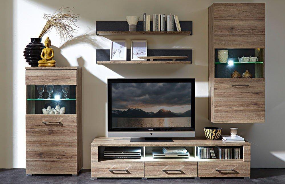 wohnwand deal minna von innostyle eiche schiefer m bel. Black Bedroom Furniture Sets. Home Design Ideas