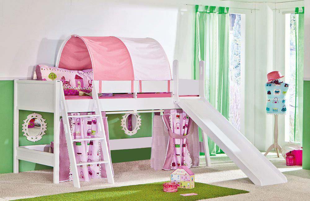 paidi hochbett wei mit rutsche amilton. Black Bedroom Furniture Sets. Home Design Ideas