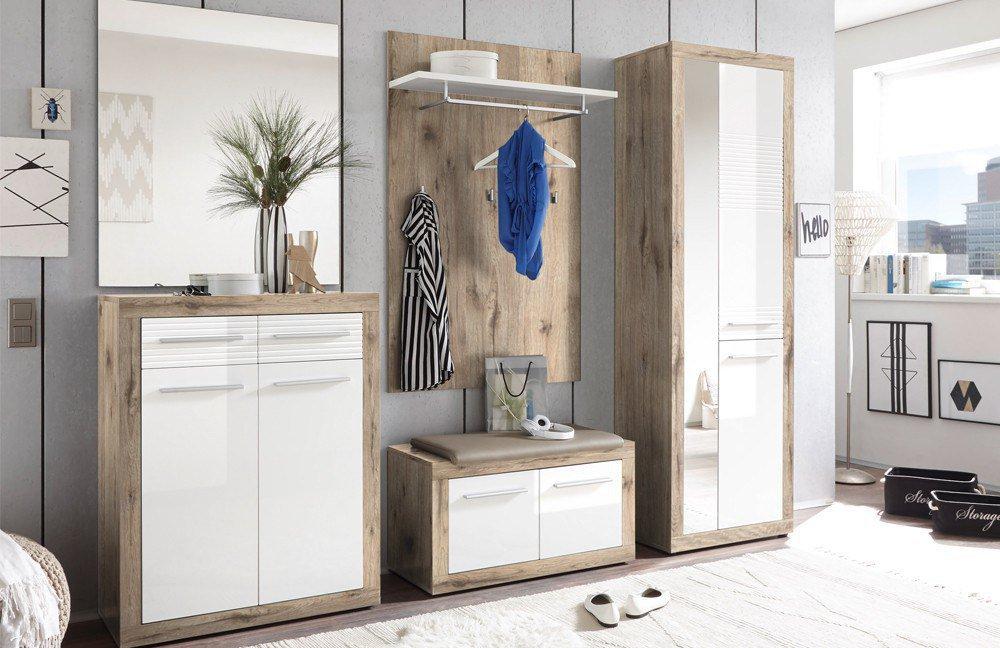 Kolibri Von First Look   Garderobe In Sandeiche/ Weiß + Kissen