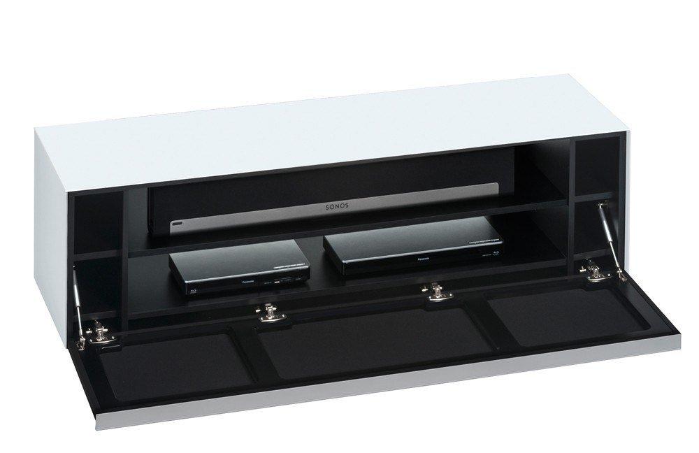 lowboard soundconcept glass wei schwarz von maja m bel. Black Bedroom Furniture Sets. Home Design Ideas