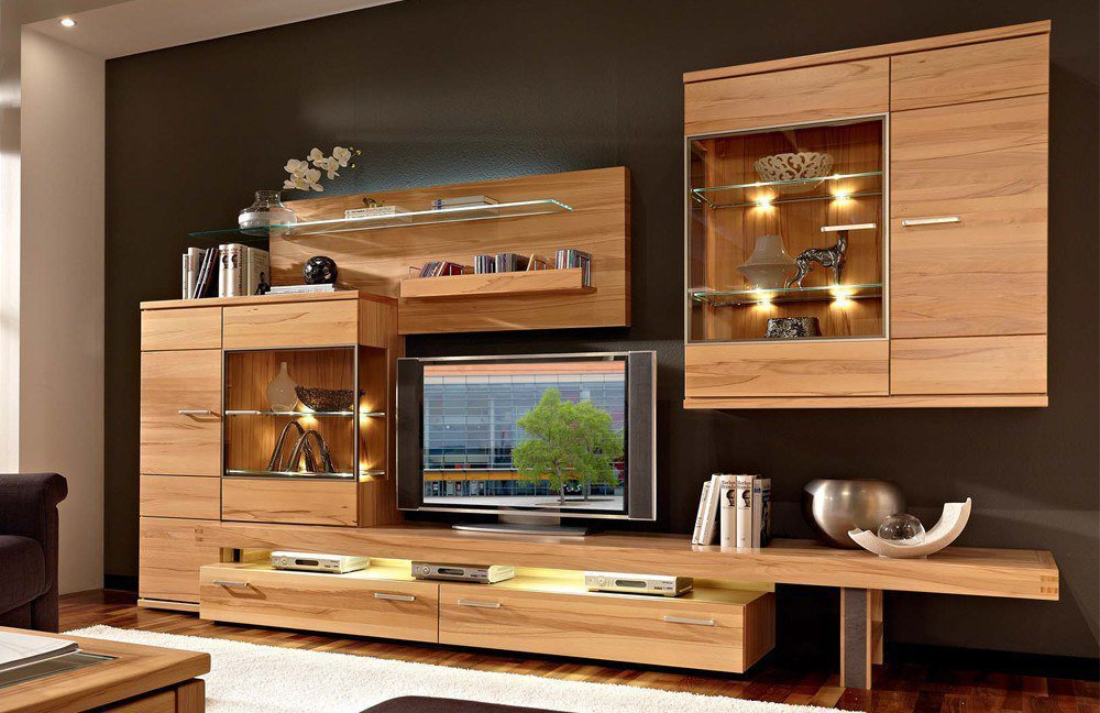 schr der m bel wohnwand cara v2 kernbuche m bel letz ihr online shop. Black Bedroom Furniture Sets. Home Design Ideas