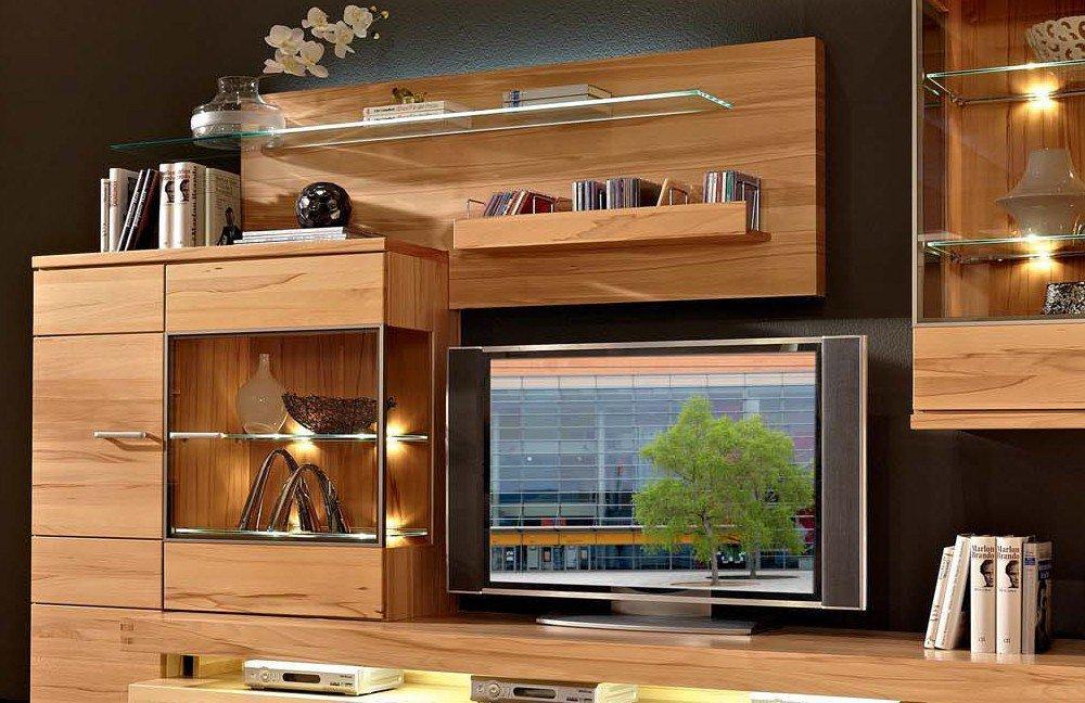 schr der m bel wohnwand cara v2 kernbuche m bel letz ihr online shop. Black Bedroom Furniture Sets. Home Design Ideas