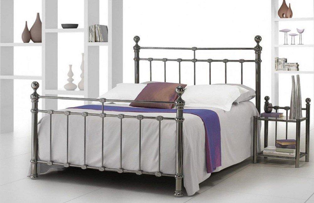 r sistub florence metallbett braun nickel m bel letz ihr online shop. Black Bedroom Furniture Sets. Home Design Ideas