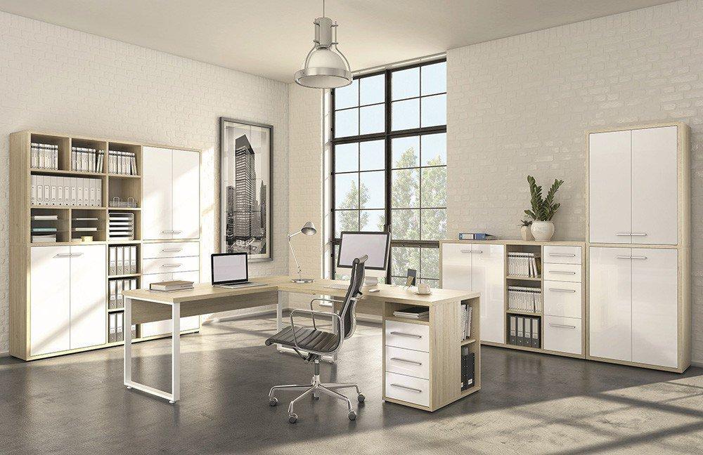 Maja Büromöbel Set+ in Eiche/ Weiß | Möbel Letz - Ihr Online-Shop