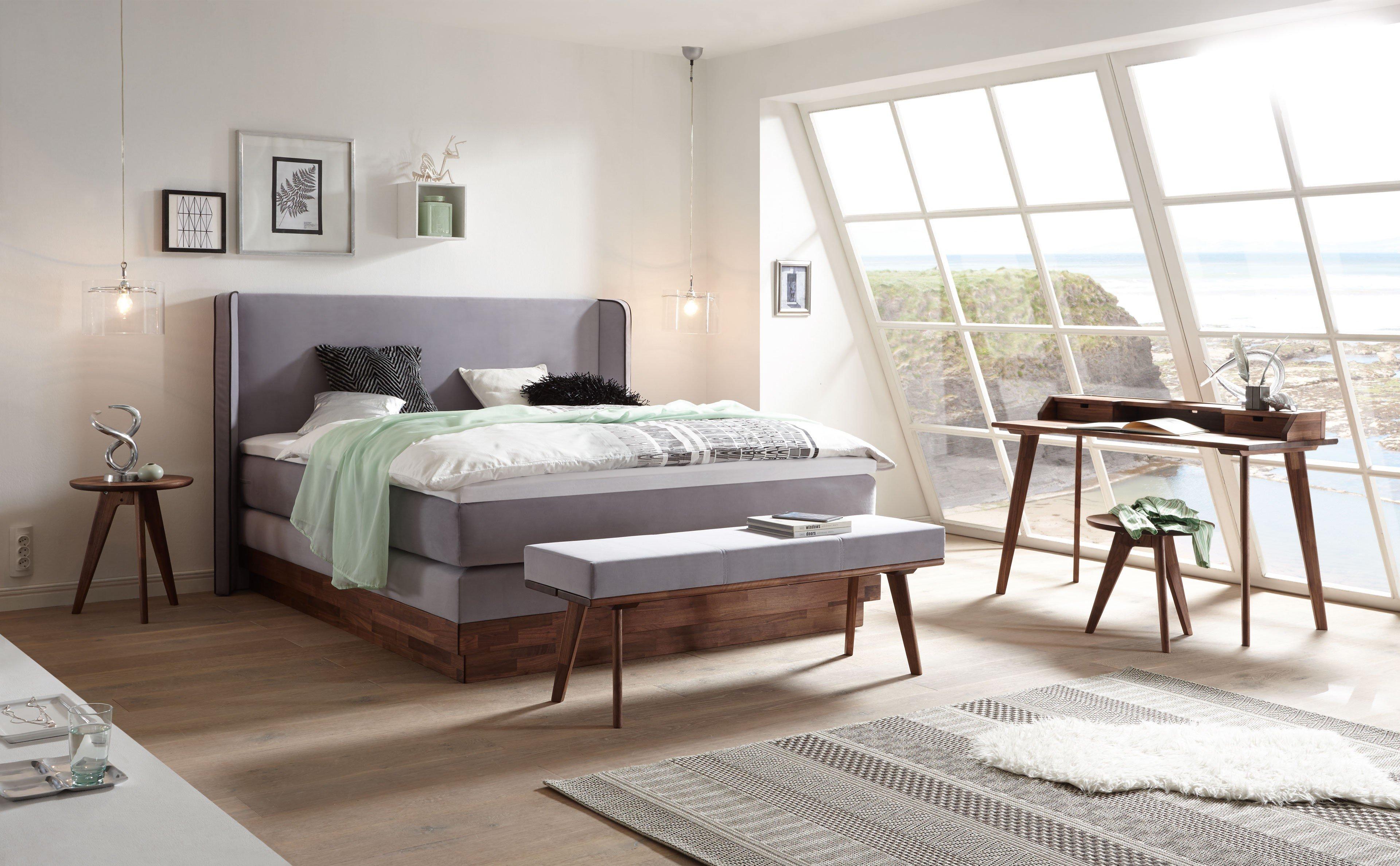 hasena elegant boxspringbett nussbaum ge lt m bel letz. Black Bedroom Furniture Sets. Home Design Ideas