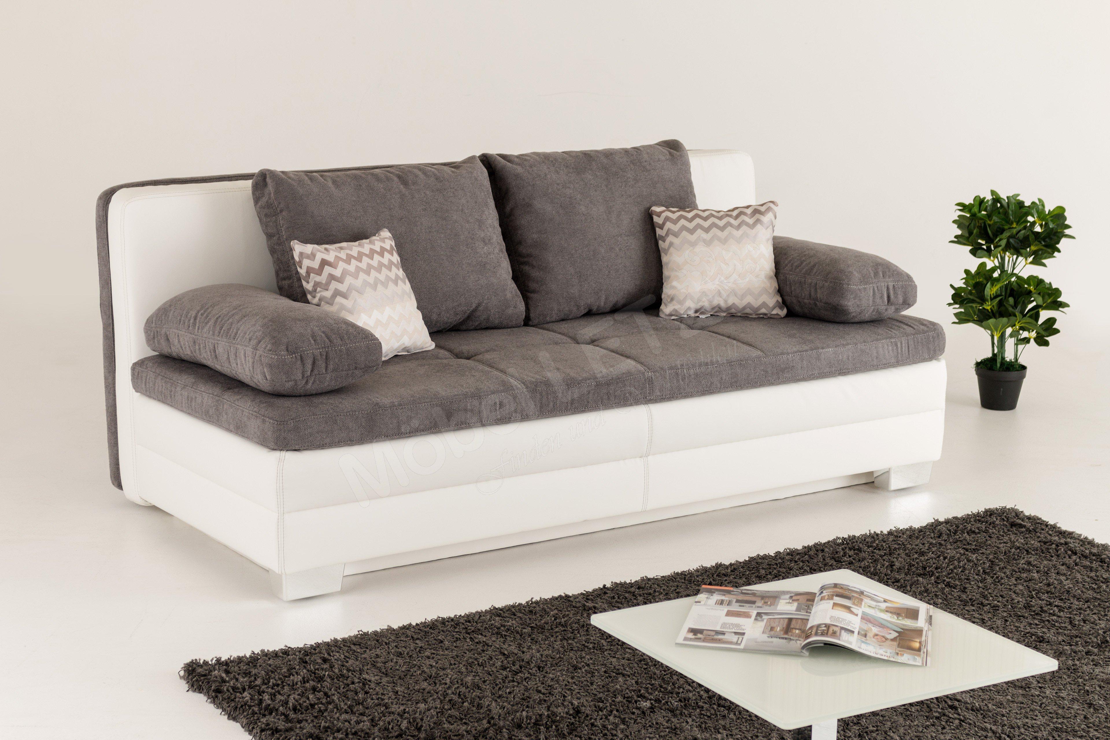 jockenh fer lincoln sabrina schlafsofa in grau wei m bel letz ihr online shop. Black Bedroom Furniture Sets. Home Design Ideas
