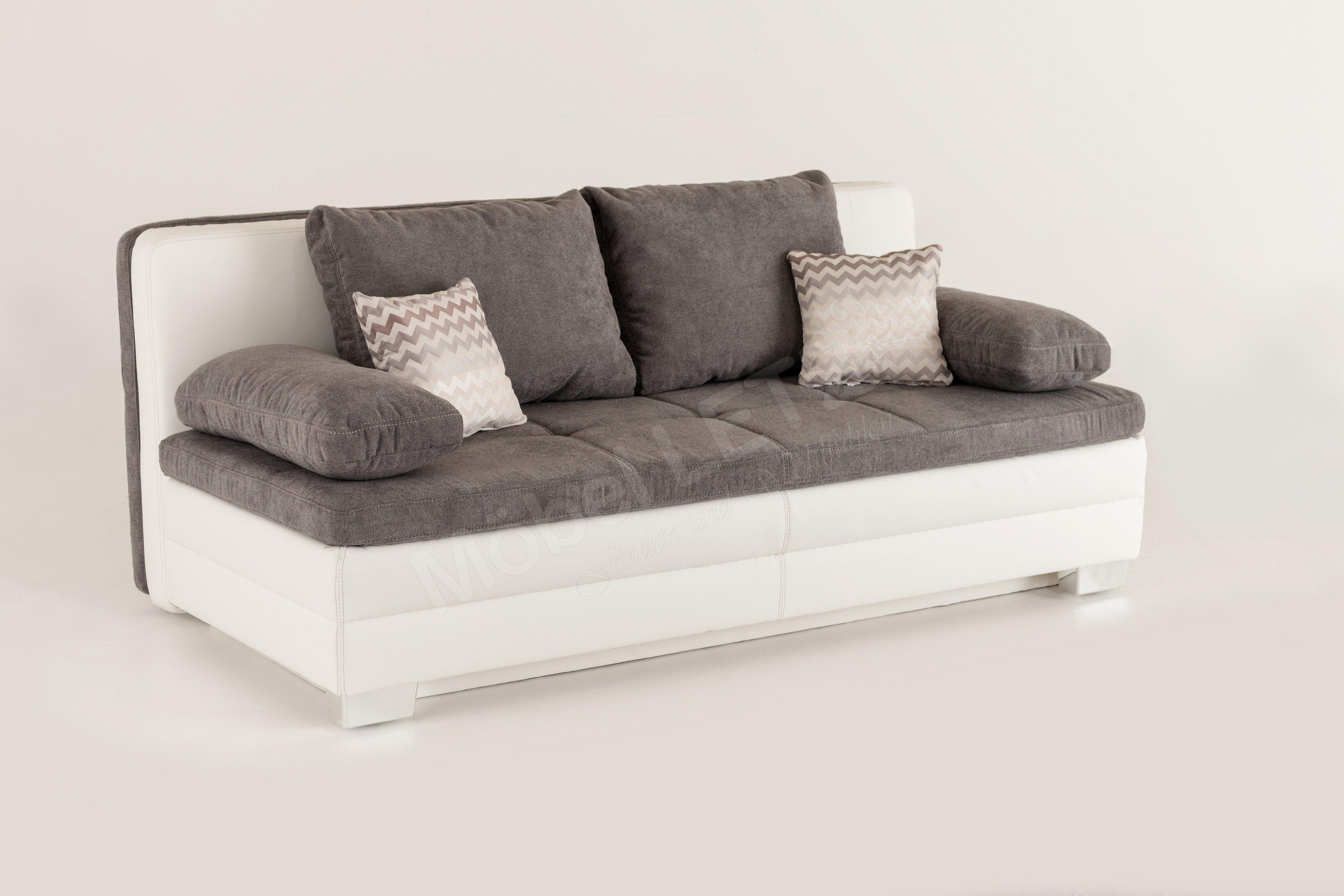 jockenh fer lincoln sabrina schlafsofa in grau wei. Black Bedroom Furniture Sets. Home Design Ideas