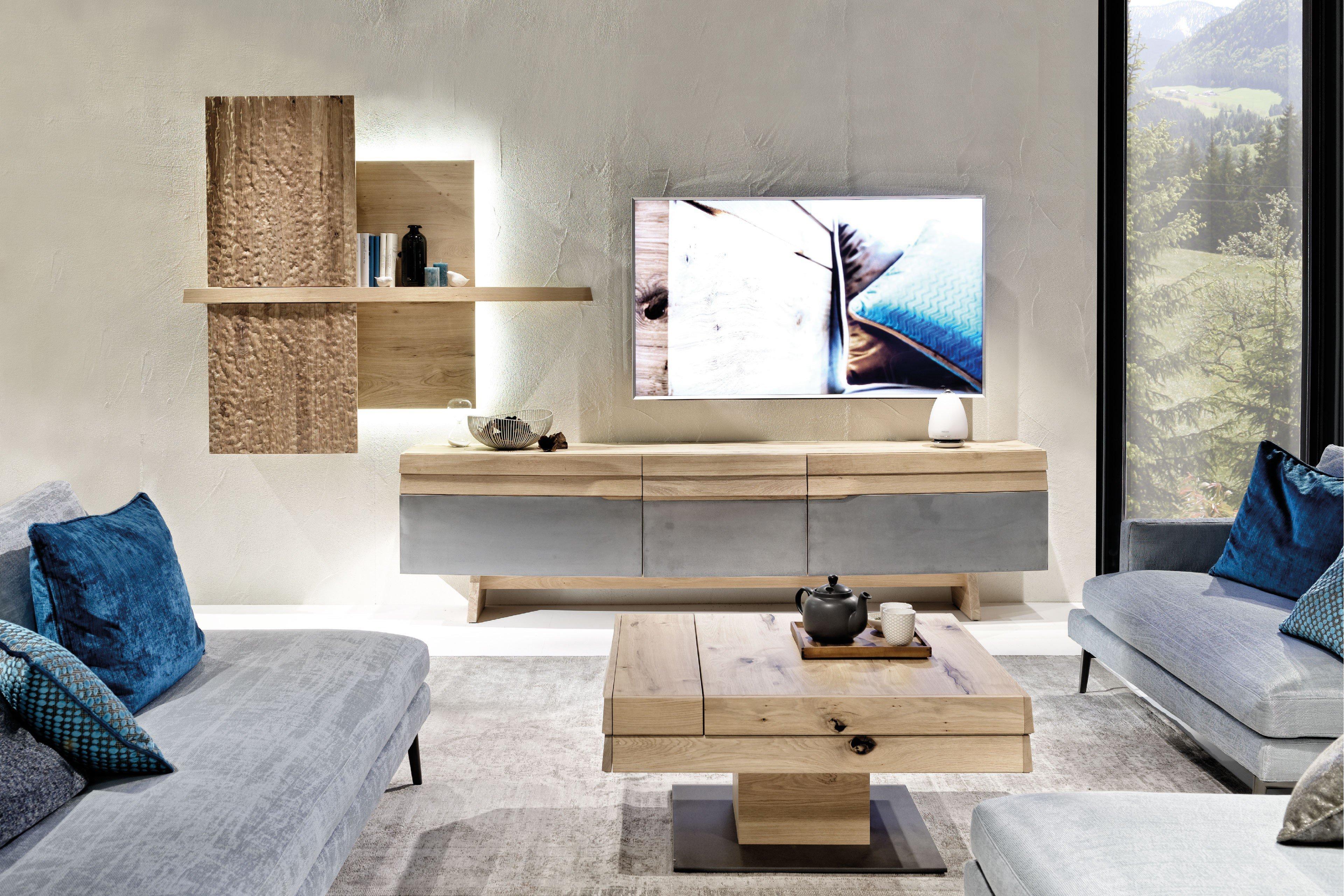voglauer wohnwand v organo living 304 wildeiche eisen m bel letz ihr online shop. Black Bedroom Furniture Sets. Home Design Ideas