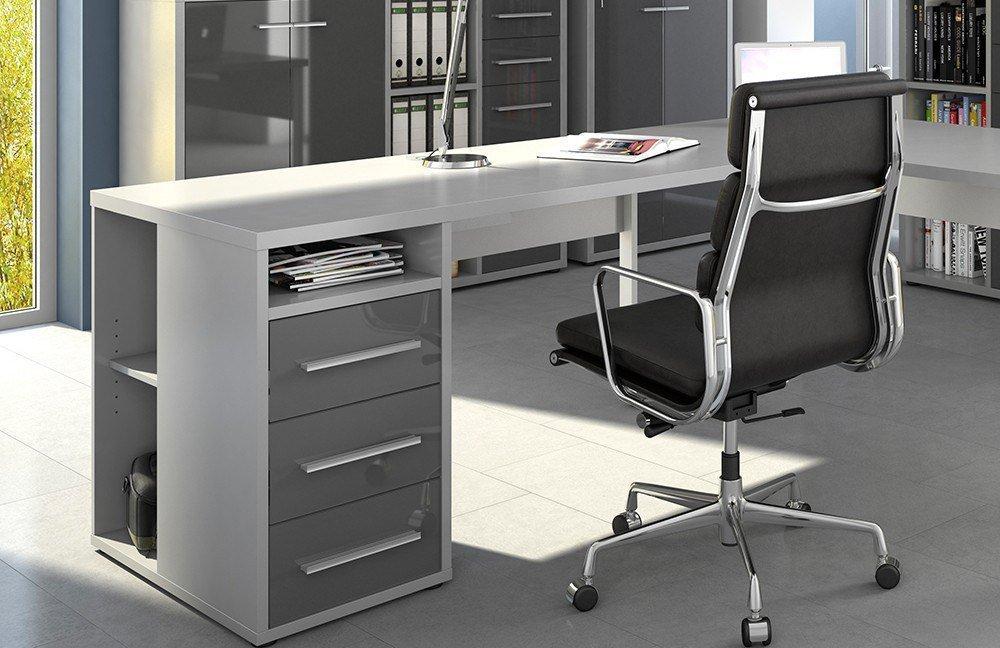 maja b rom bel set grau grauglas m bel letz ihr online shop. Black Bedroom Furniture Sets. Home Design Ideas