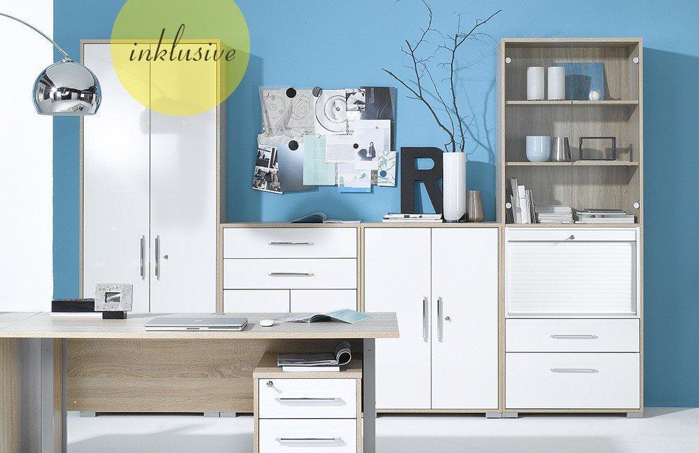 Maja Buromobel System Hochglanz Weiss Mobel Letz Ihr Online Shop