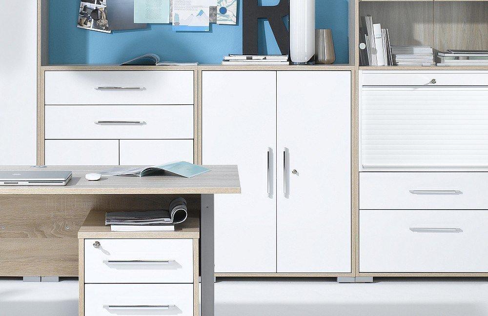 Maja Büromöbel System Hochglanz weiß   Möbel Letz - Ihr Online-Shop