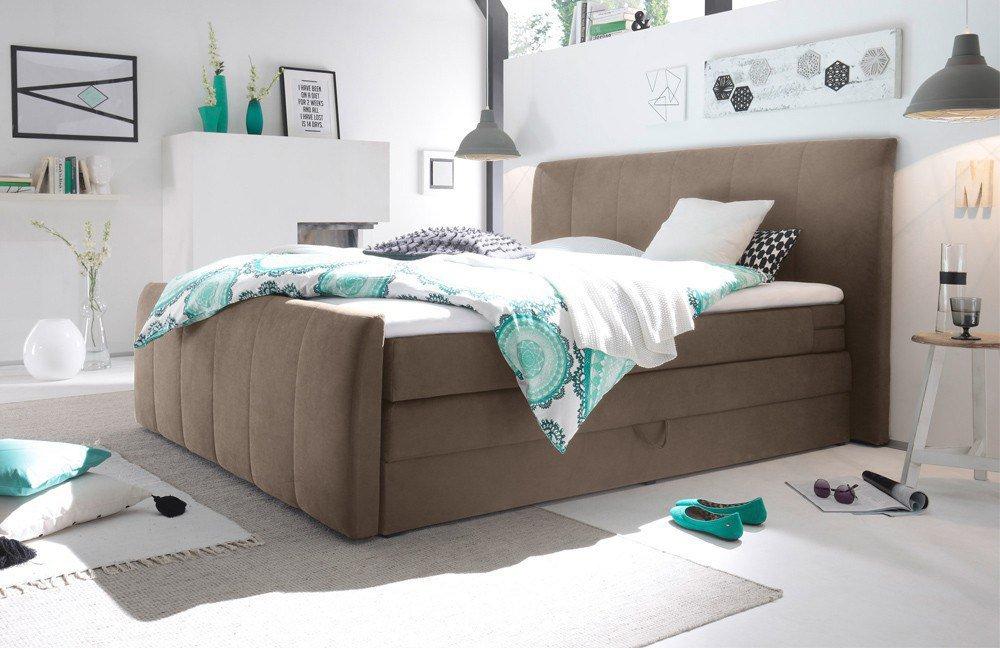 black red white boxspringbett maryland in braun m bel. Black Bedroom Furniture Sets. Home Design Ideas