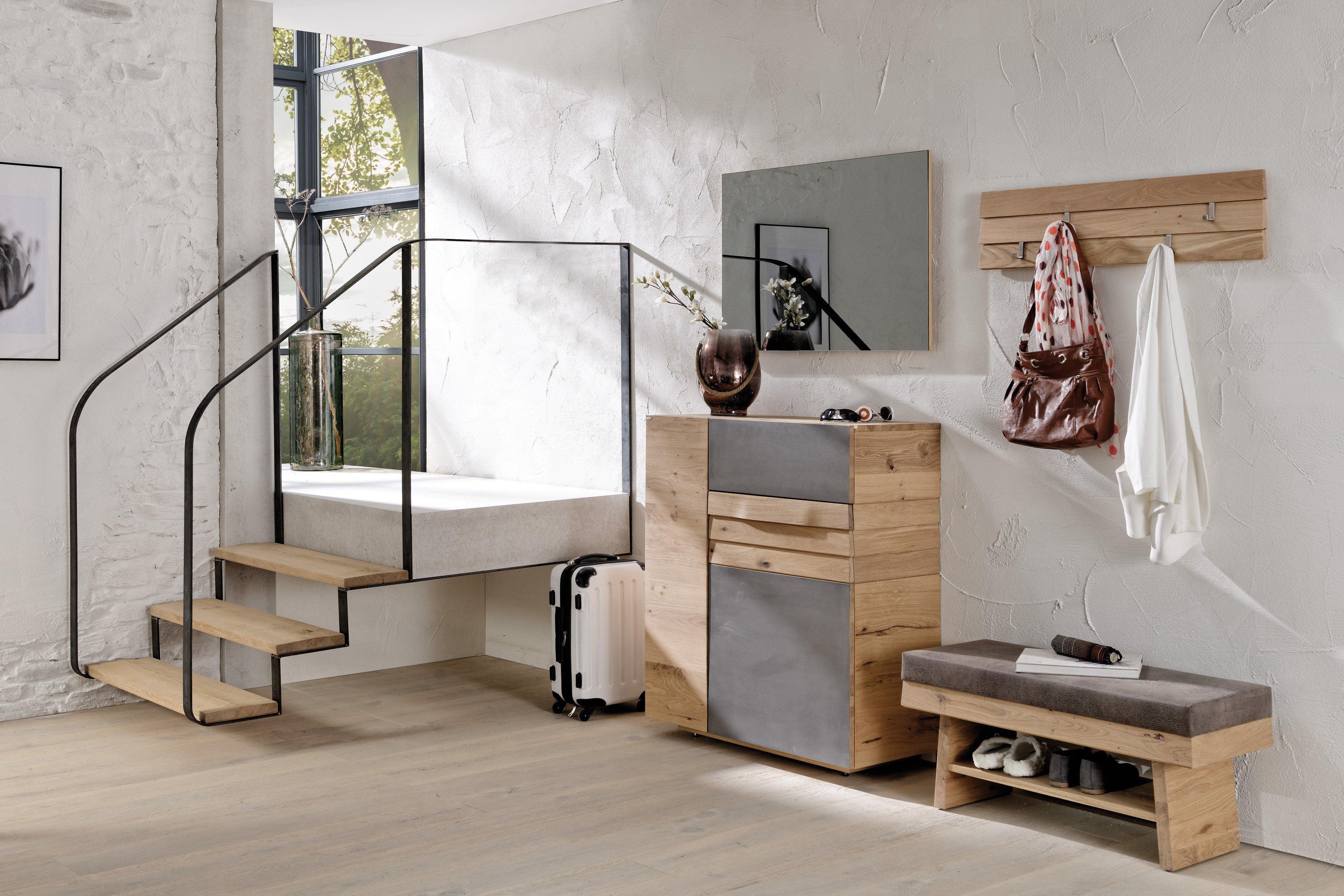 voglauer garderobe v organo wildeiche eisen m bel letz ihr online shop. Black Bedroom Furniture Sets. Home Design Ideas
