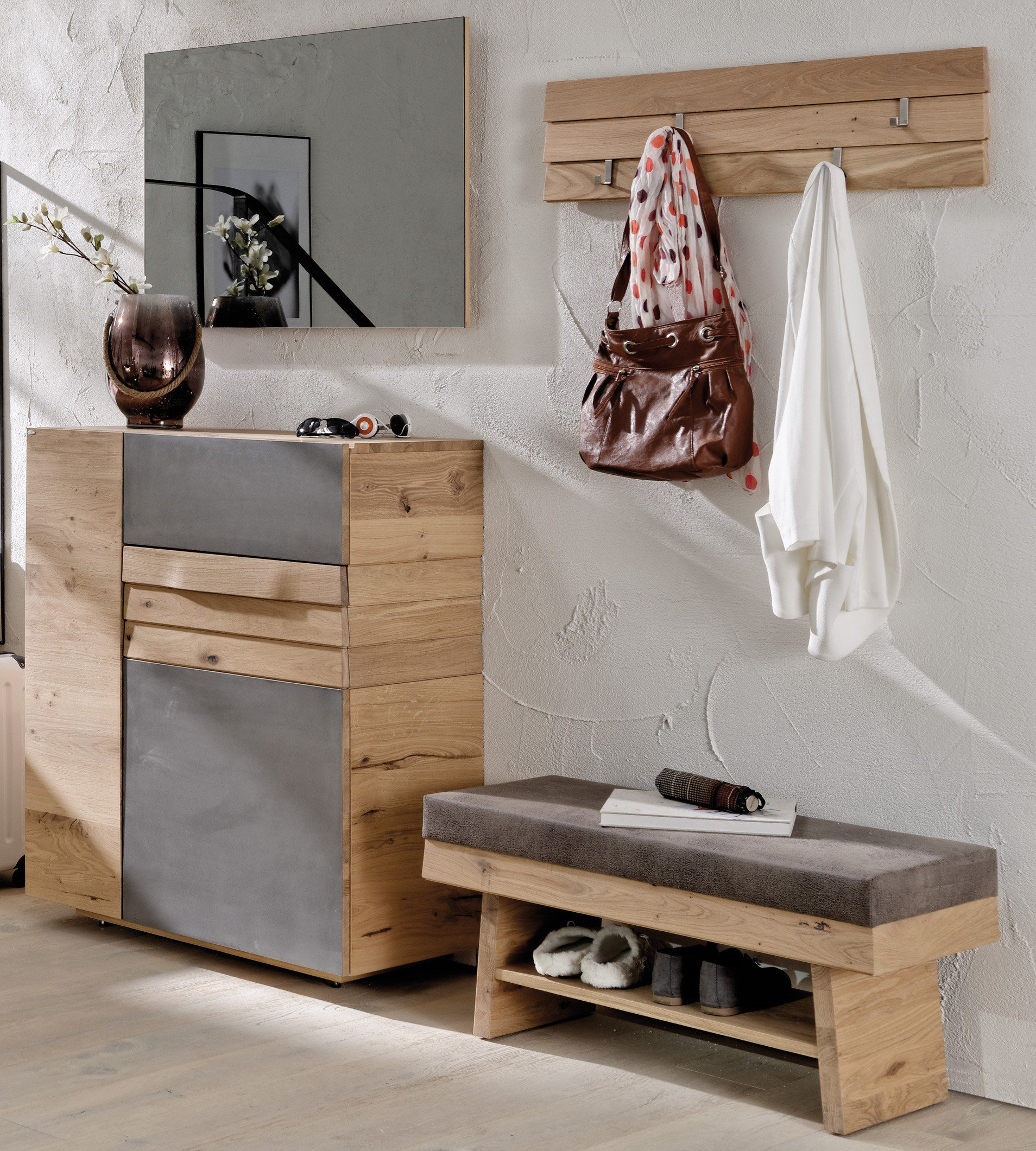 voglauer garderobe v organo wildeiche eisen m bel letz. Black Bedroom Furniture Sets. Home Design Ideas