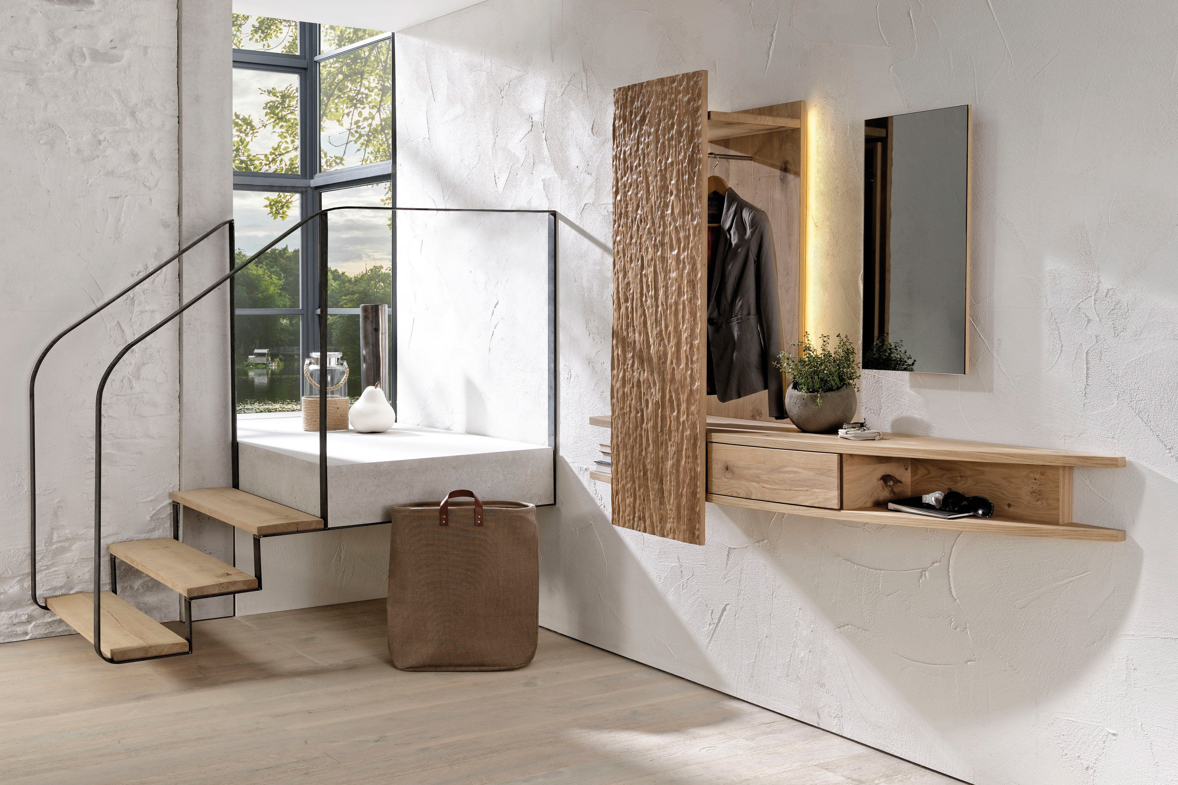 voglauer garderobe v organo orlinda wildeiche rustiko m bel letz ihr online shop. Black Bedroom Furniture Sets. Home Design Ideas